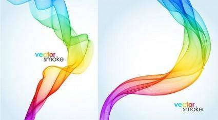 free vector Beautiful symphony smoke vector