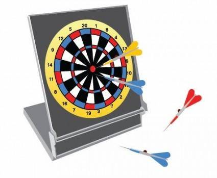 free vector Vector Dartboard with Darts