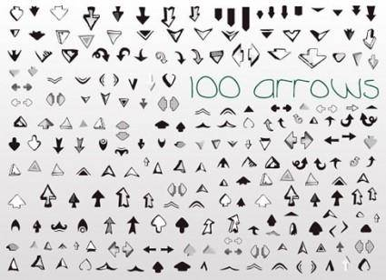 Vector Set of Useful Arrows Great Collection