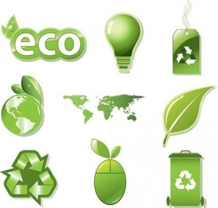 free vector Vector Set of Global ECO
