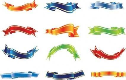 free vector Set of Colorful Ribbons Vector