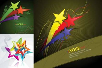 free vector Fivepointed star theme vector
