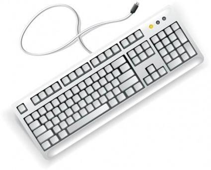 free vector White Computer Keyboard Vector