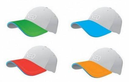 free vector Colourful Baseball Caps Vector