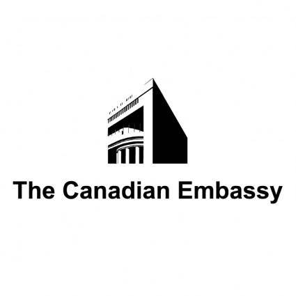 free vector The canadian embassy