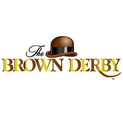 free vector The brown derby