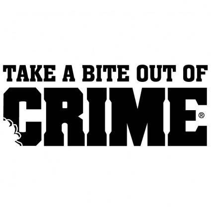 free vector Take a bite out of crime