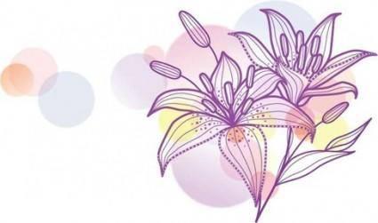 free vector Lily Vecotr Illustration