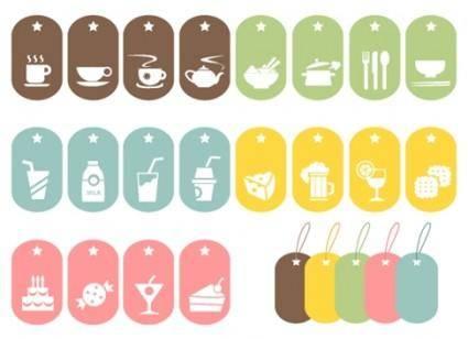 24 Food Vector Symbols