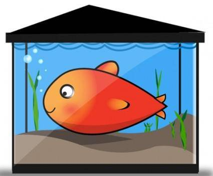 Free Vector Gold Fish Tank