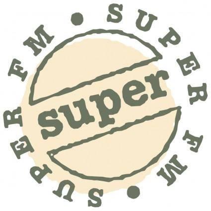 free vector Super fm