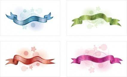 4 Free Vector Ribbons