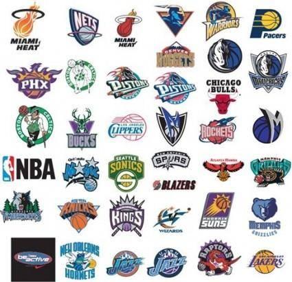free vector NBA Basketball Team Vector Logos