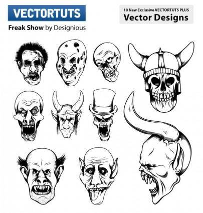 Horror picture vector