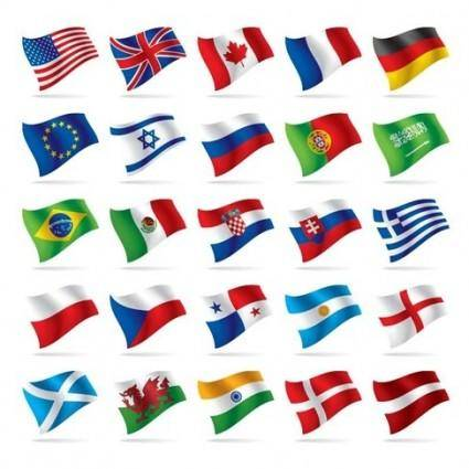 free vector World National Flag Vectors