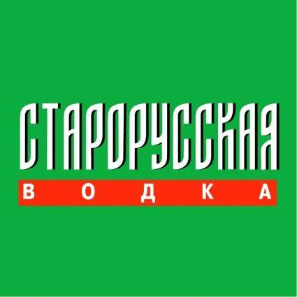 free vector Starorusskaya vodka