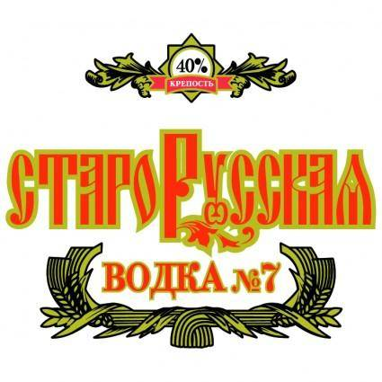 free vector Starorusskaya vodka 0