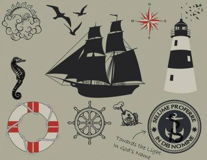 1 nautical theme graphics vector