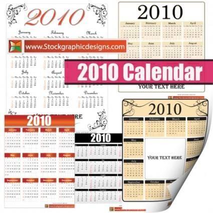 2010 Free Vector Calendar