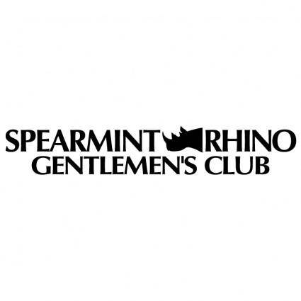 free vector Spearmint rhino gentlemens club