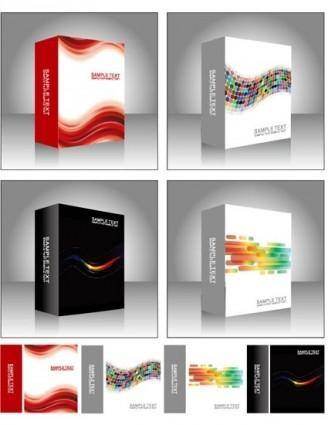 free vector Free Vector Software Product Packing Templates