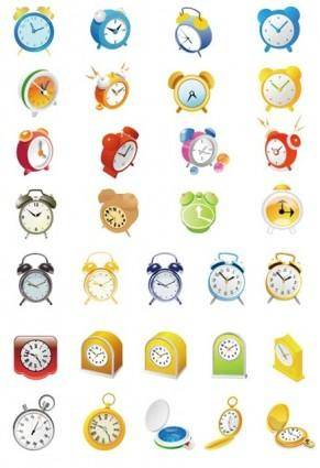 Cute Alarm Clock Vector Set