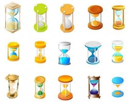 free vector 15 Free Vector hourglass
