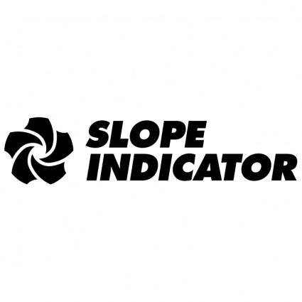 free vector Slope indicator