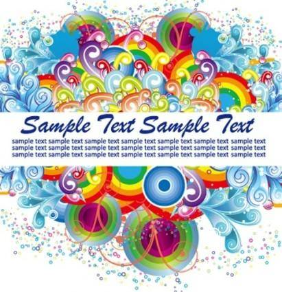 Colorful Design Trend Vector Graphic