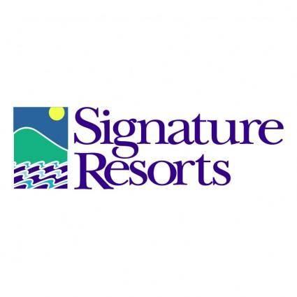 free vector Signature resorts