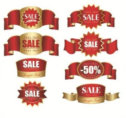 Sale Discount label vector materials
