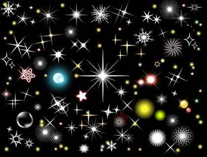 free vector Multi-element vector material style flashing stars