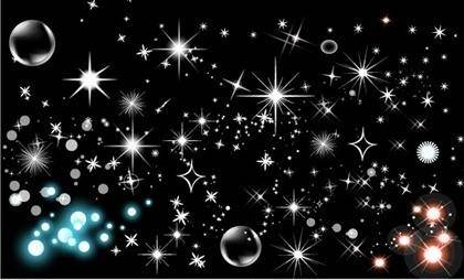 free vector Shining star bubbles vector