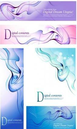 free vector Blue dream smoke element vector
