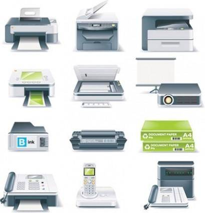free vector Printers, Fax Machines, Projectors and Other Office Equipment Vector