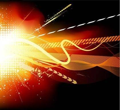 free vector Cool trend glare element vector graphic 1
