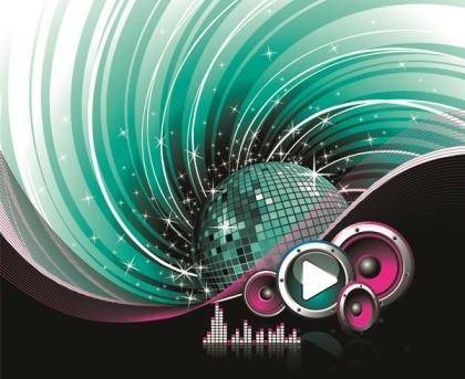 The Trend of Music Illustration Vector Material 5