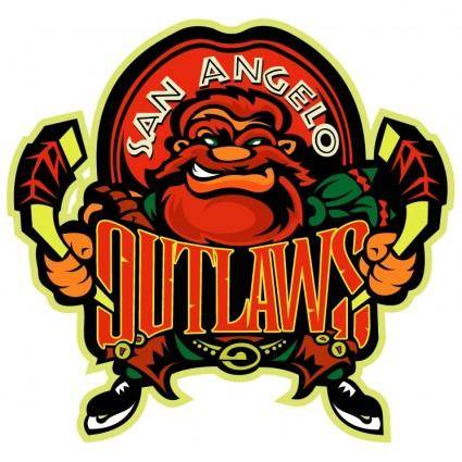 free vector San angelo outlaws