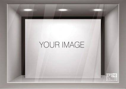 free vector Window display effect diagram template vector 1