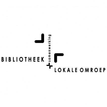 free vector Samenwerking bibliotheek en lokale omroep