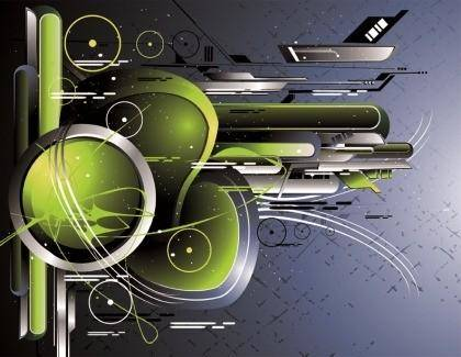 The Trend of Dynamic Science and Technology Theme Vector Graphic 1