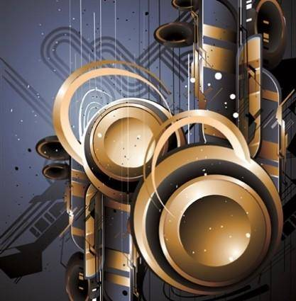 The Trend of Dynamic Science and Technology Theme Vector Graphic 5