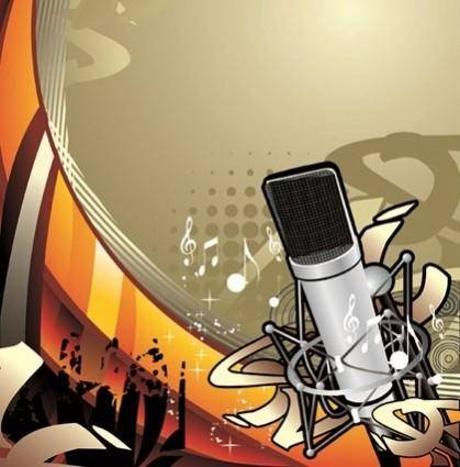 free vector The Trend of Music Illustration Vector Material 1