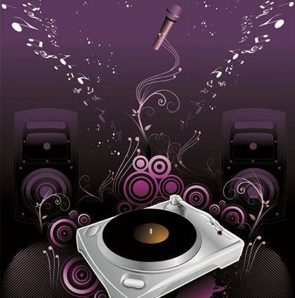 free vector The Trend of Music Illustration Vector Material 2