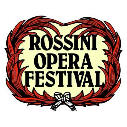free vector Rossini opera festival