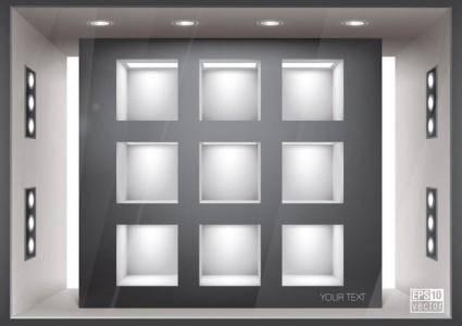free vector Gallery template vector 5 renderings