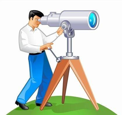free vector Free Vector Graphic  A Man with His Telescope