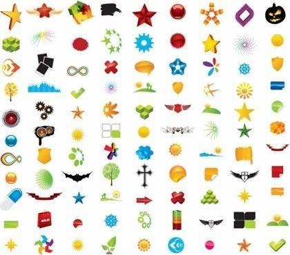 free vector 100 Vector Logo Design Elements