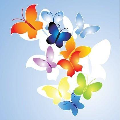 Free colorful Butterfly Vector Illustration