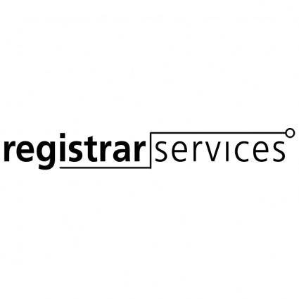 free vector Registrar services